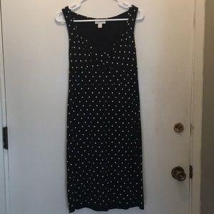 Ann Taylor Loft black polka dot knit dress 2